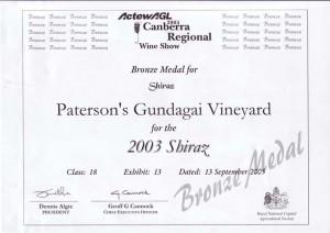 06ACanberra Regional 2005 Br Shiraz 03