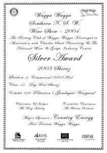 06Wagga Wine show 2004 Sh03 Sl