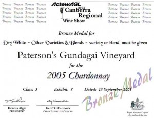 09Canberra Regional 2005 Chard05 BR